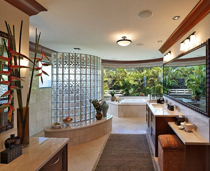 Mettons Des Briques De Verre Dans La Salle De Bains Miroir Géant - Verre fenetre salle de bain