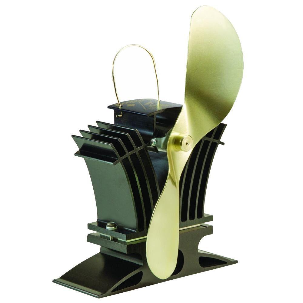 ecofan belair 806ca heat powered stove fan gold blade creates