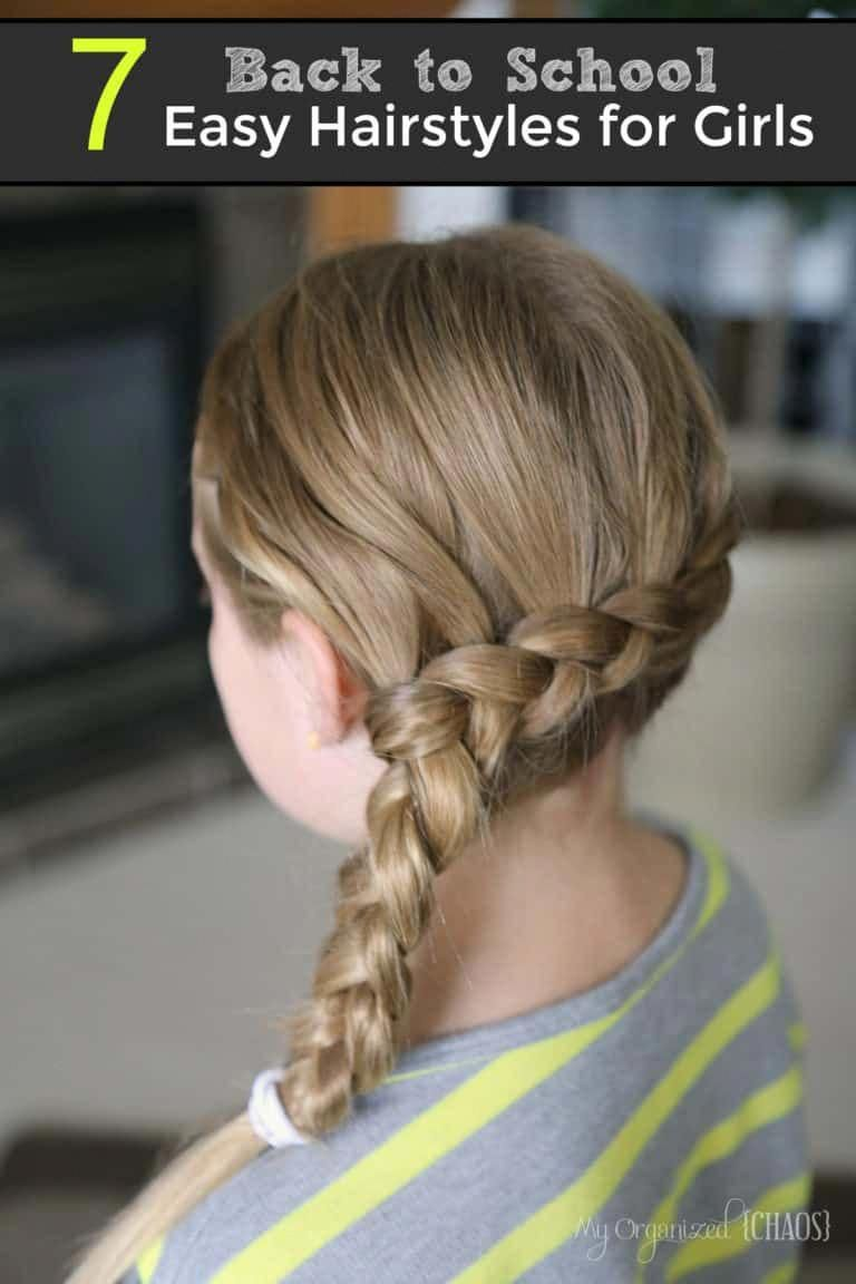 Back to School Easy Hairstyles for Girls #hairstylesforschool | Easy hairstyles, Girls school ...