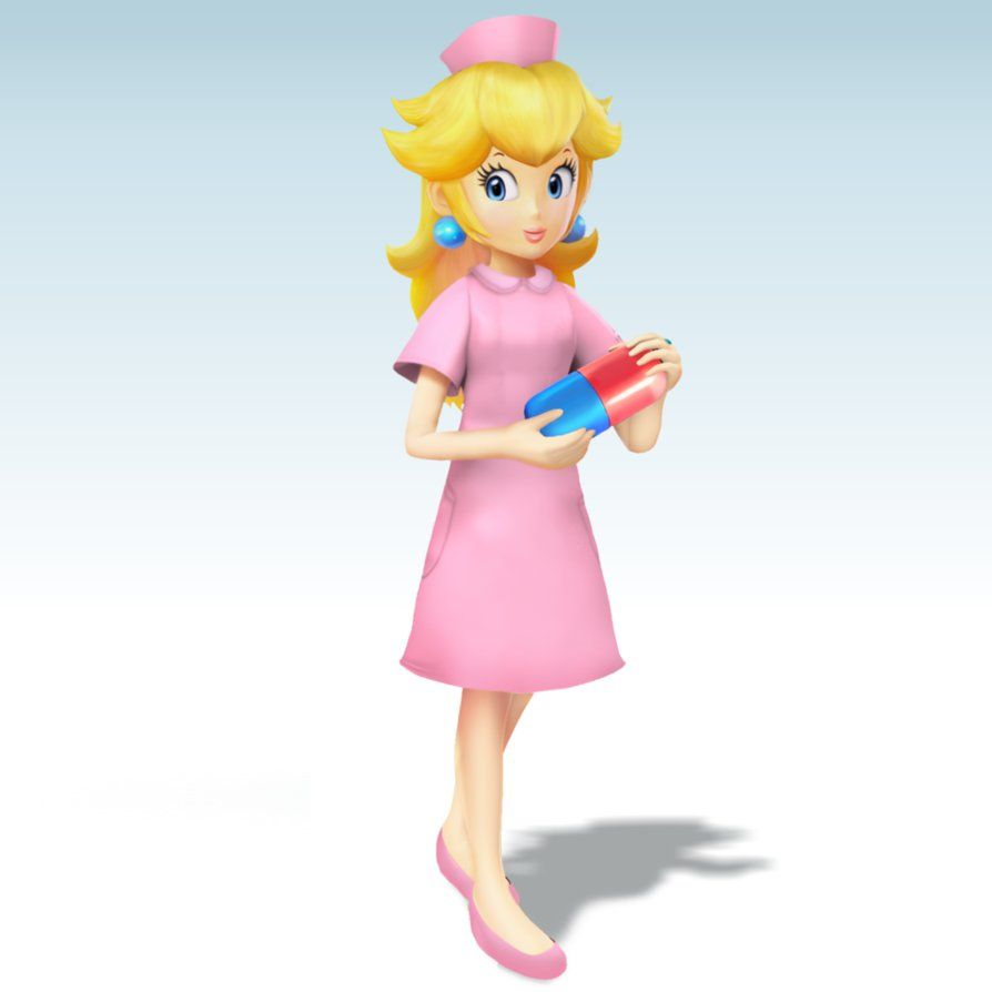 peach and daisy with boobs
