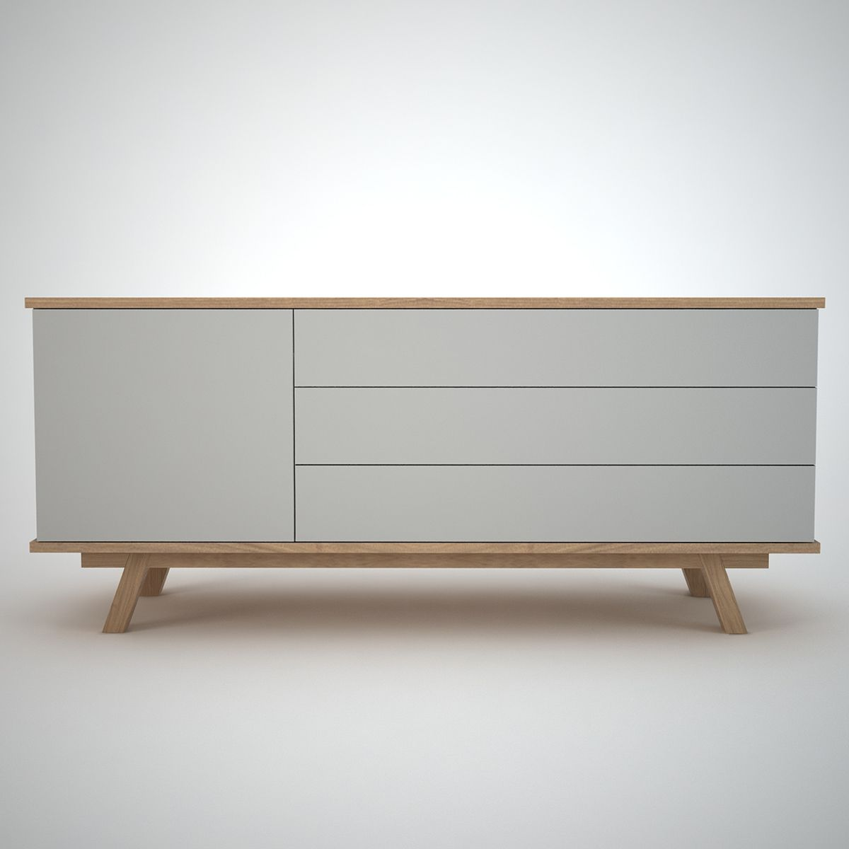 Modern Sideboard ottawa contemporary sideboard in clay and oak 1 door and 3