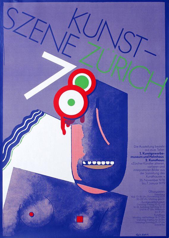 Kunst Szene Zurich 78 Purple Bacchi Balz 1978 35 4 X 50 4 90 X 128 Cm Silkscreen Paper Id Swl14576 123 On Sale Now List Price 175 Exhibition Poster Poster Prints Poster