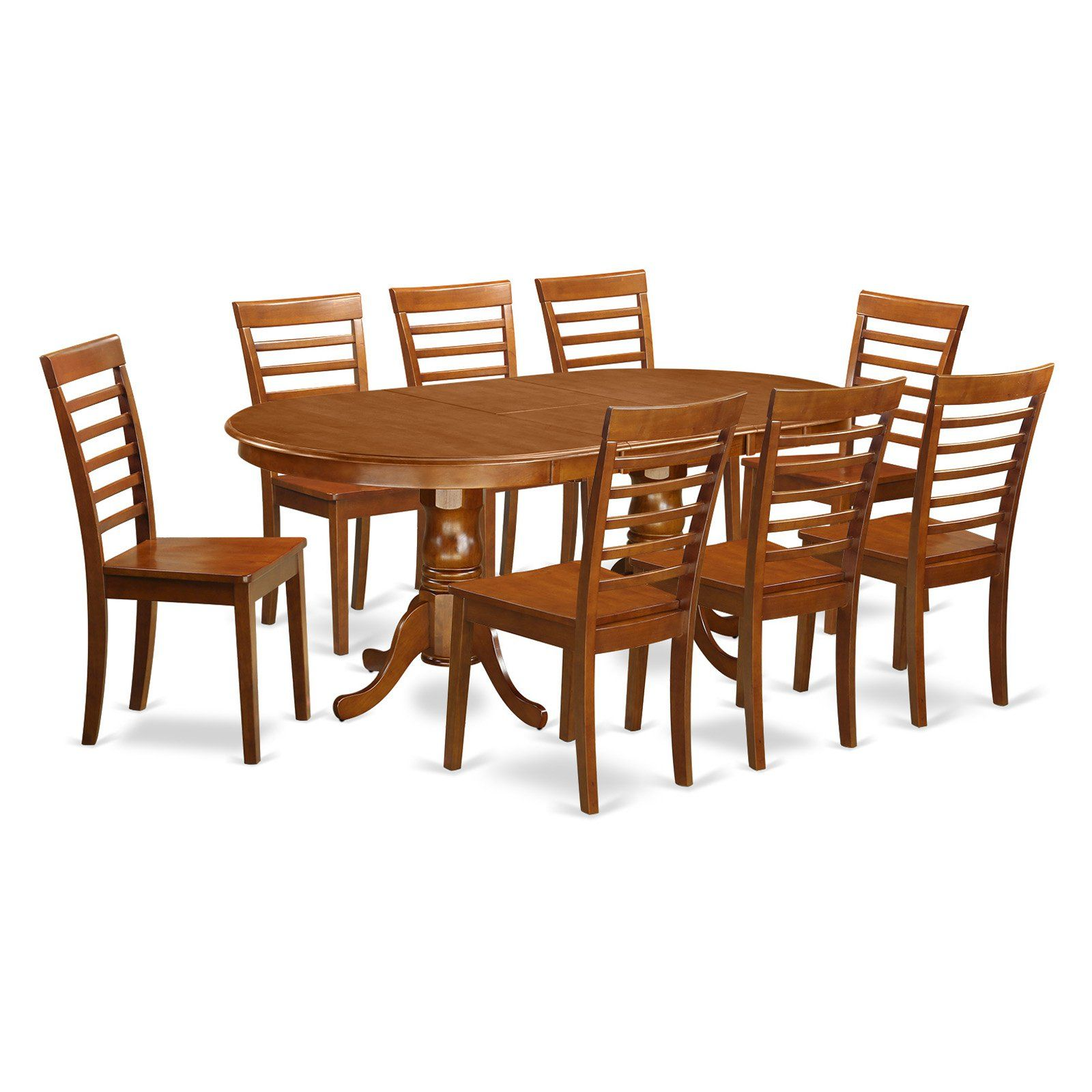 Enjoyable East West Furniture Plainville 9 Piece Straight Ladder Back Gmtry Best Dining Table And Chair Ideas Images Gmtryco
