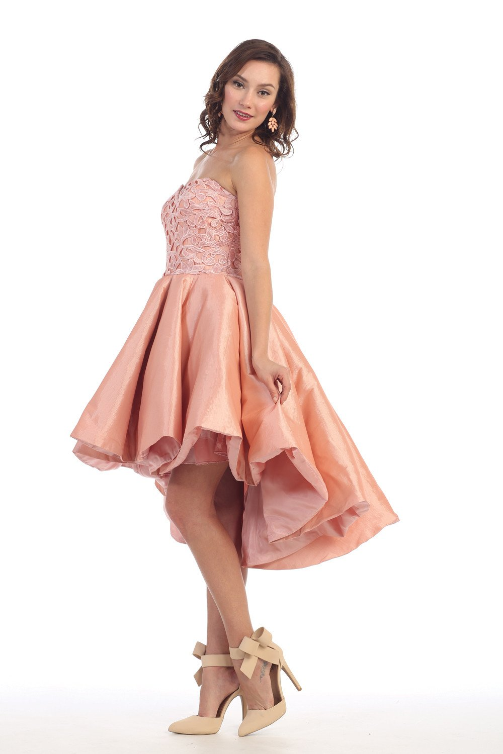 High low dresses homecoming prom gown in products pinterest