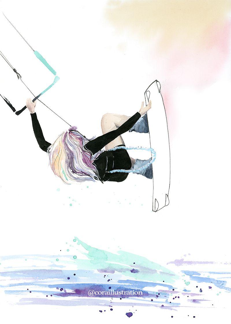 Air Time. Surf Art By Cora Illustration.  coraillustration ... da2579063d8