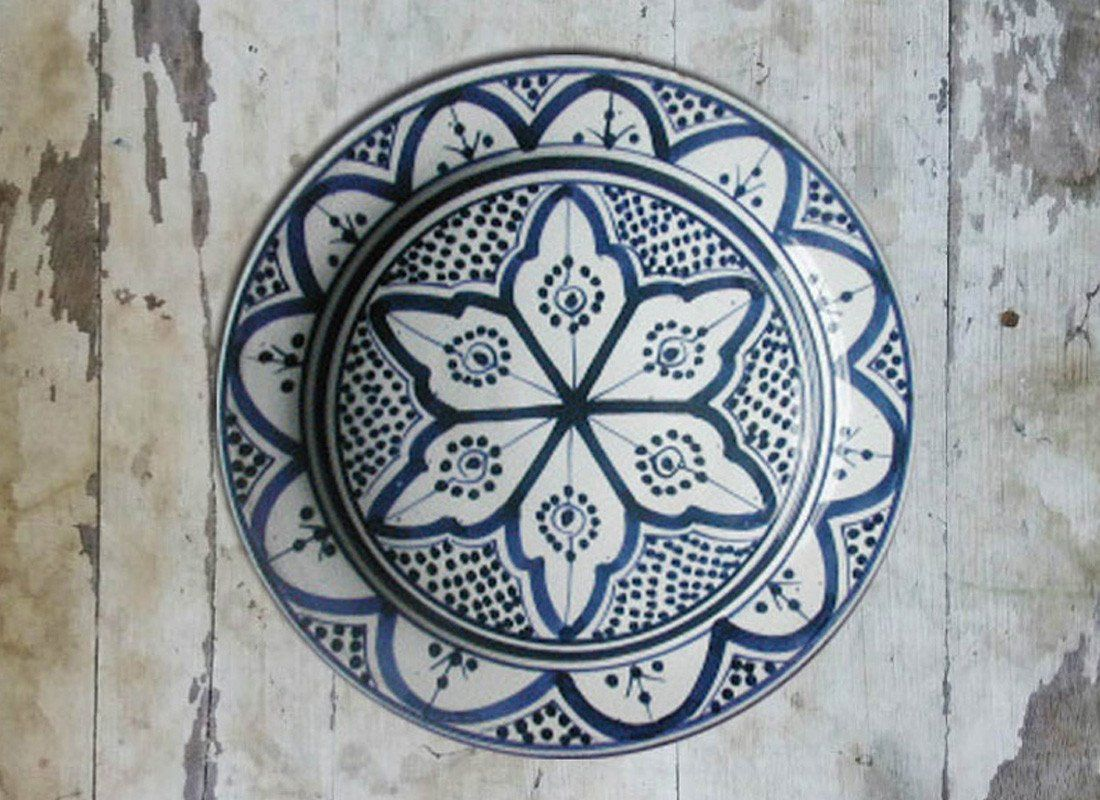 Buy Blue Moroccan Ceramic Wall Hanging Plate At Lowest Rates On
