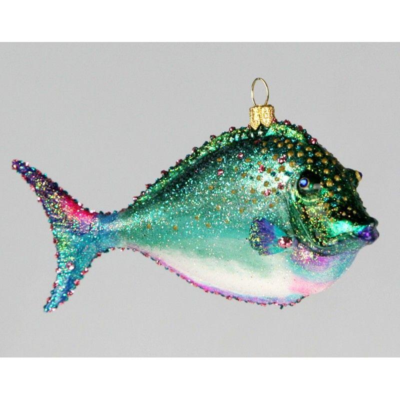 Christbaumkugeln Figuren Glas Weihnachtskugeln Schmuck Hai Fisch Delfin Deko