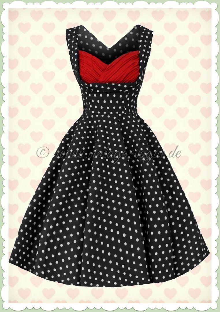 dolly & dotty 50er jahre retro petticoat punkte kleid -grace