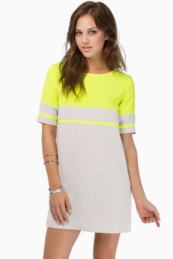 a1d123602fe WD fashion-Stripe me Shift Dress. $9.45. Toast/neon yellow-195 in less than  week (sold out). White/black-472 in 12 days. color blocking does well