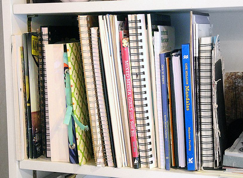 5 ways to organize art supplies canvases paper and