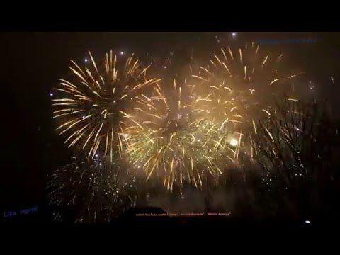 Fireworks in Prague 01 01 2016