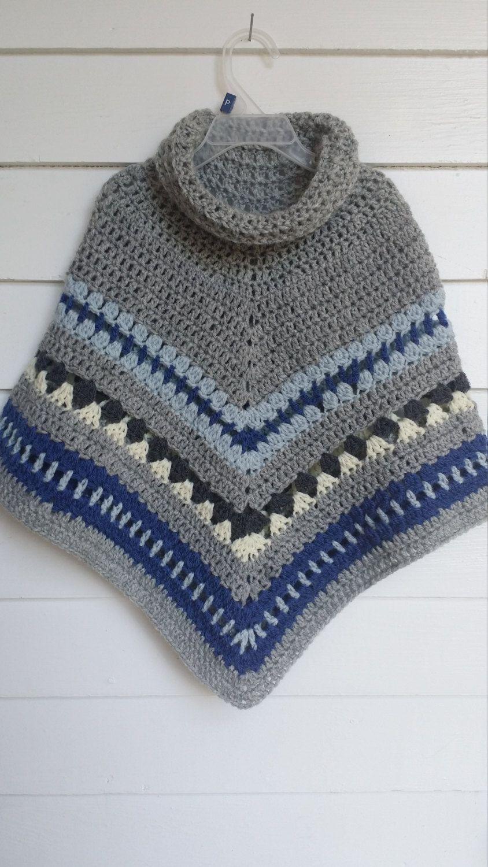 Child boho poncho by crochetouch on Etsy | crochet | Pinterest