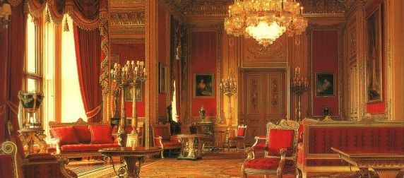 Crimson Drawing Room, Windsor Castle.
