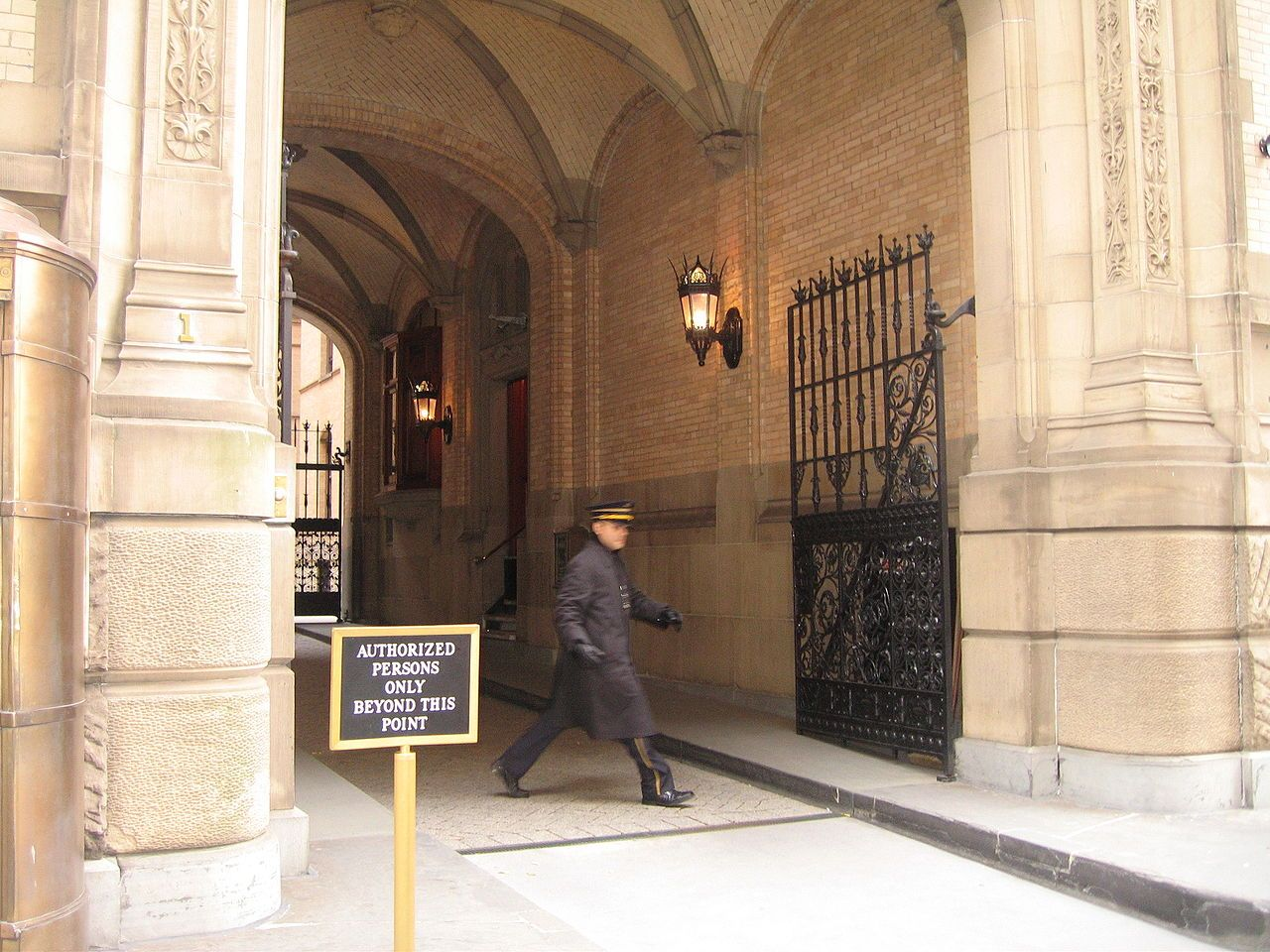 Side View Of Dakota Entryway Showing Steps Lennon Climbed Before Collapsing In The Lobby John Lennon John Lennon Death Nyc Townhouse