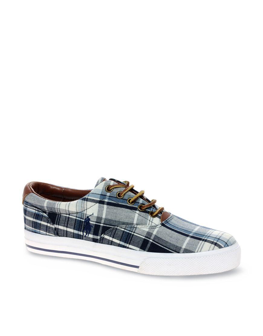 fd1f7381d89 Polo Ralph Lauren Vaughn Madras Check Plimsolls | Casual Shoes in ...