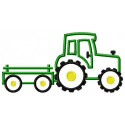 tractor with trailer applique design add number to trailer rh pinterest com
