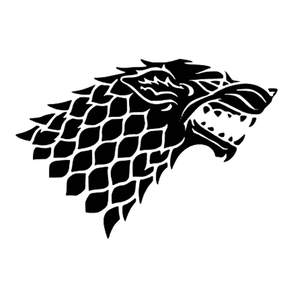 Game Of Thrones Dire Wolf Sticker Direwolf Decal Game Of Thrones Gift Game Of Thrones Sticker Game Of Thrones Houses Game Of Thrones Tattoo House Stark