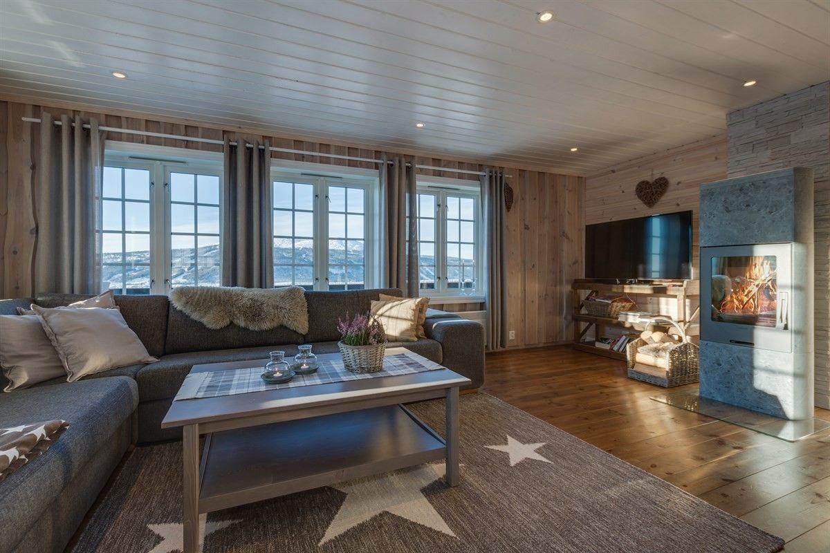 Найти – ТРЮСИЛЬ/BJØNNÅSEN - красивый домик с drømmeutsikt и хороших солнечных условиях - 4 спальни - трассы для беговых лыж - Klebersteinsovn