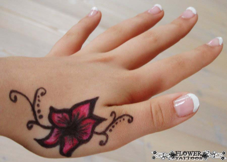 1 Hand Hawaiian And Japanese Flower Tattoos Hand Tattoos For Women Small Hand Tattoos Hand Tattoos