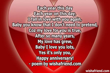 Wedding Anniversary Poems For My Wife