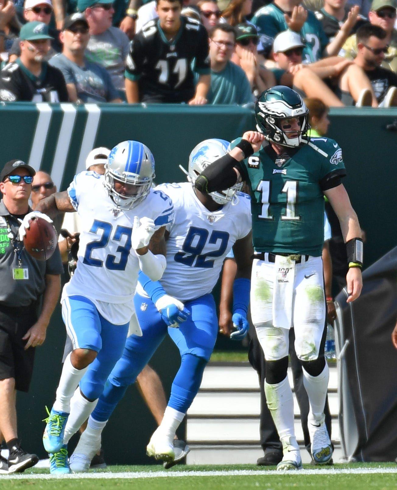 Detroit lions defense does enough to slow ailing eagles