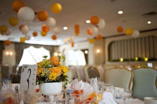 orange and yellow wedding!
