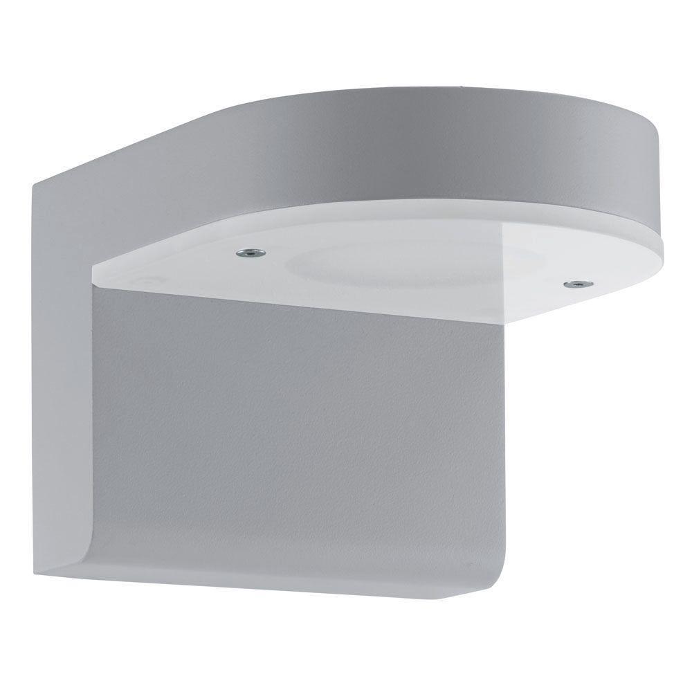 eb64abdf497 EGLO Jalon 2-Light Silver Integrated LED Wall Light