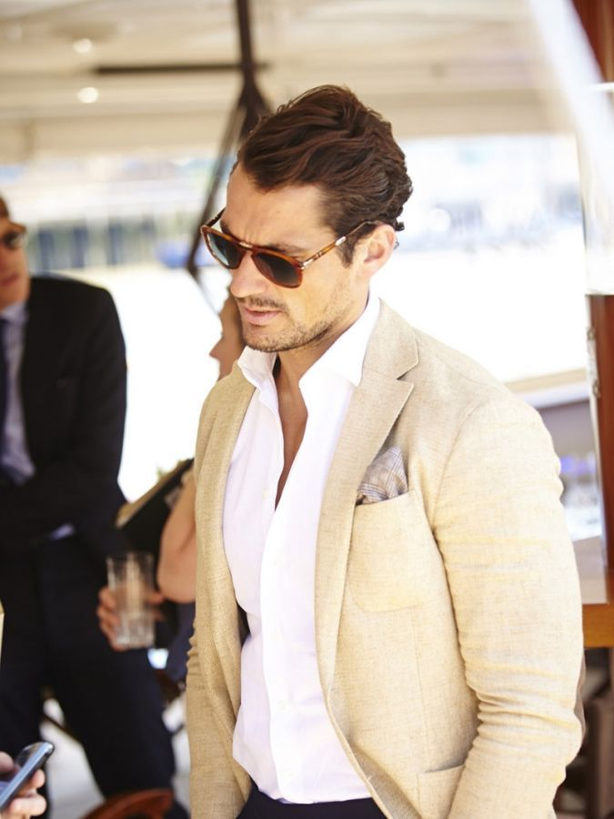 david gandy cream trousers - Google Search | David Gandy ...