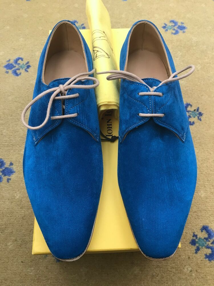 ac5fb622d59 New John Lobb Paul Smith Mens Blue Suede Shoes UK 6.5 US 7.5 EU 40.5  Willoughby - Dress Shoes Men  dressshoes  mendressshoes -  777.51 End Date   Friday ...