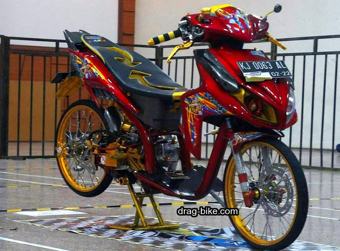 Modifikasi Vario 110 Thailook Warna Merah Modifikasi Motor