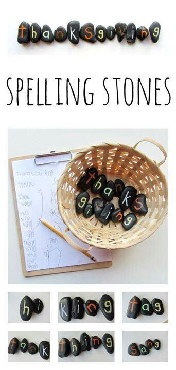 Spelling stones x