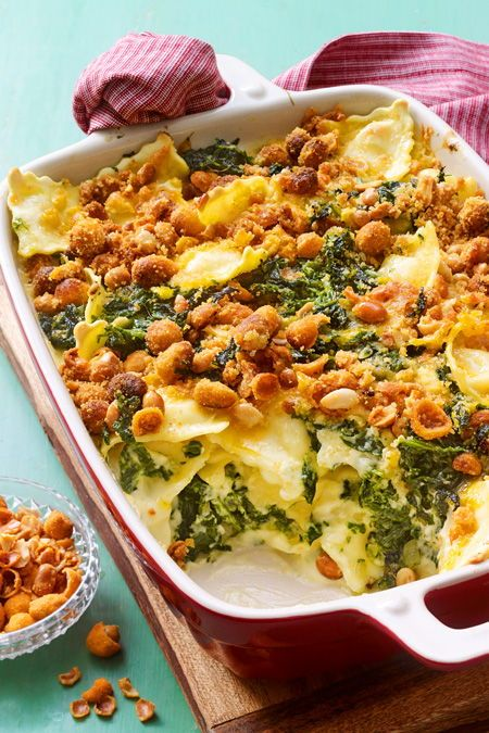 Für Spontan-Köche: Ravioli-Spinat-Auflauf