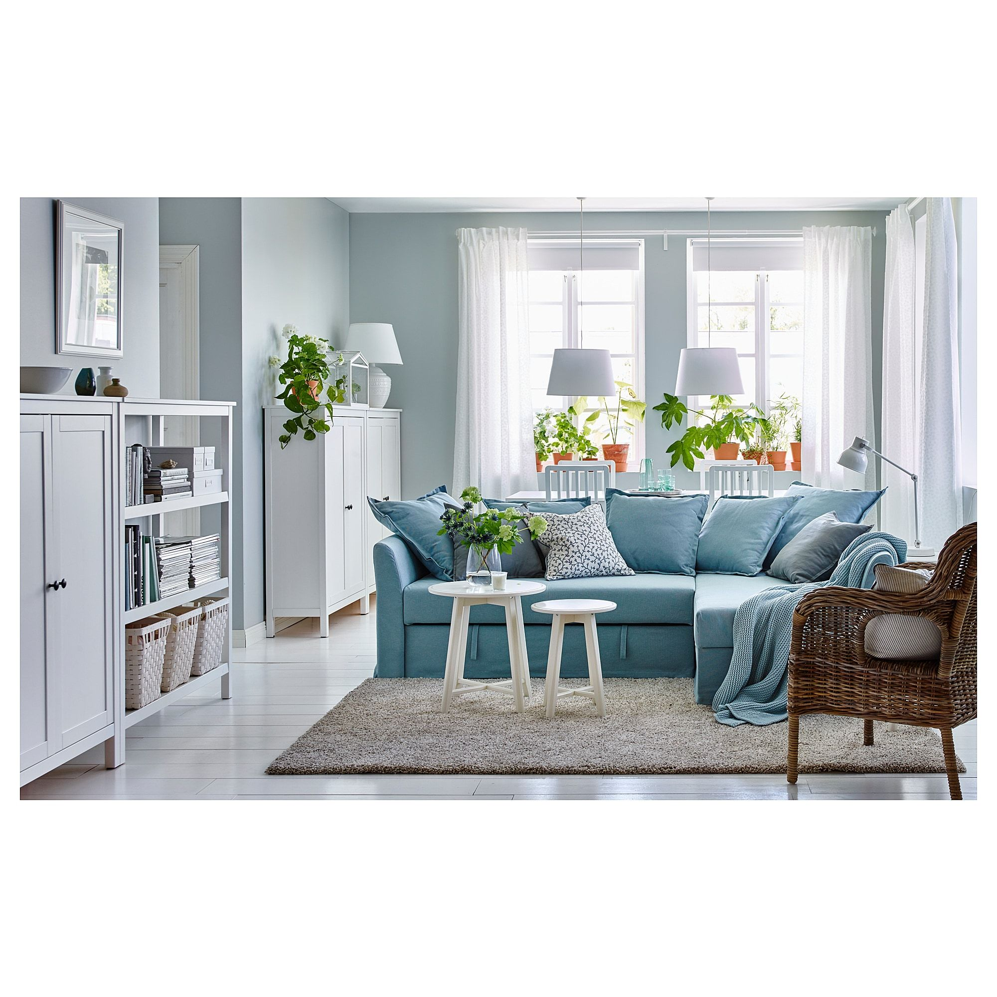 Ikea Holmsund Corner Sofa Bed Orrsta Light Blue In 2019