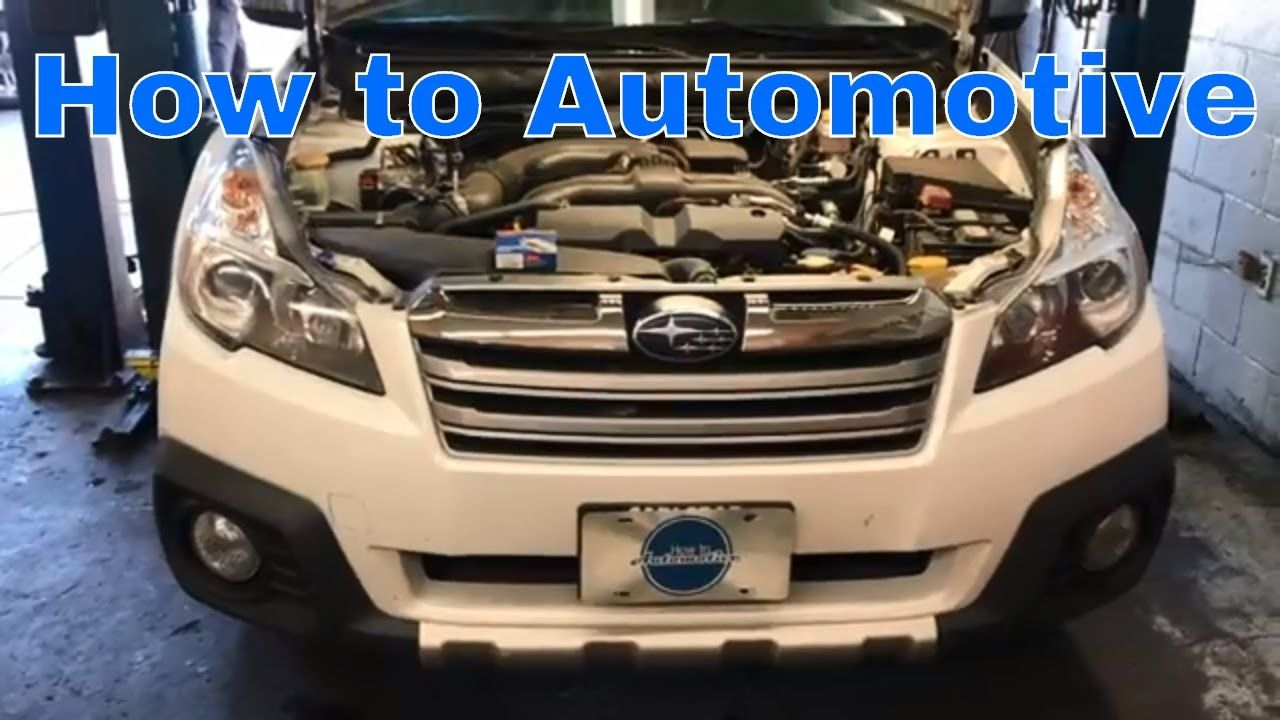 How To Replace The Spark Plugs On A 2009 2014 Subaru Outback With Ford Ranger Fuel Filter Location 25l E