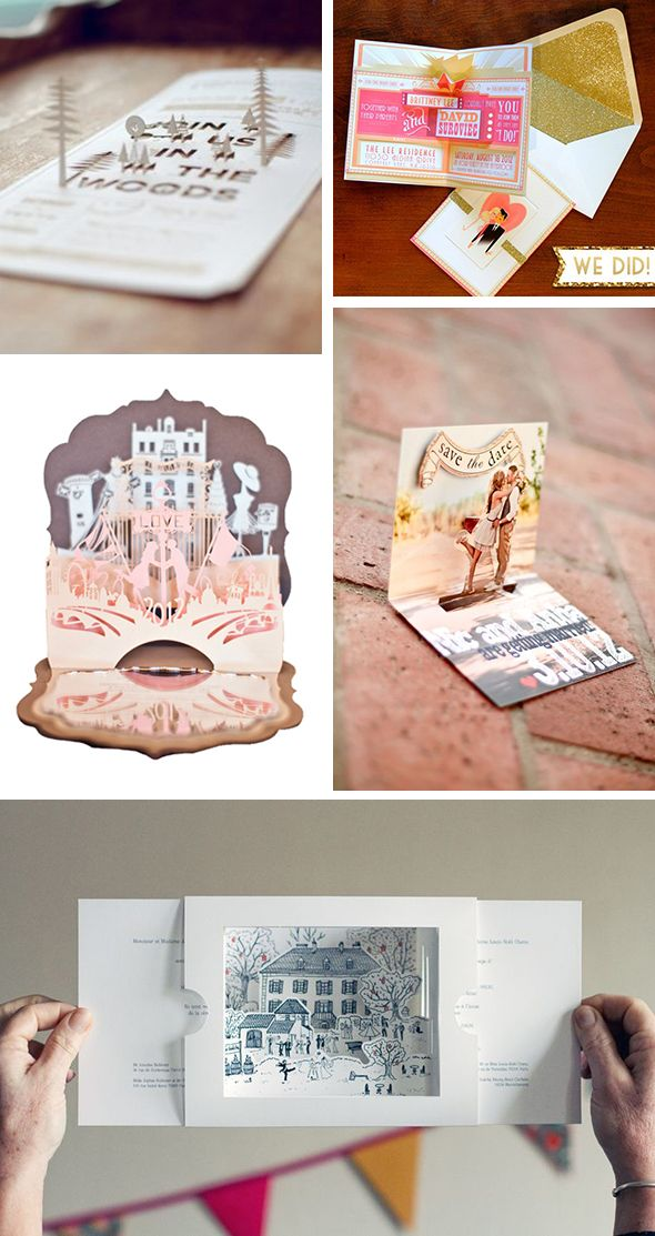 Pop Up Wedding Invitations + Save the Date Cards | Our Wedding ...
