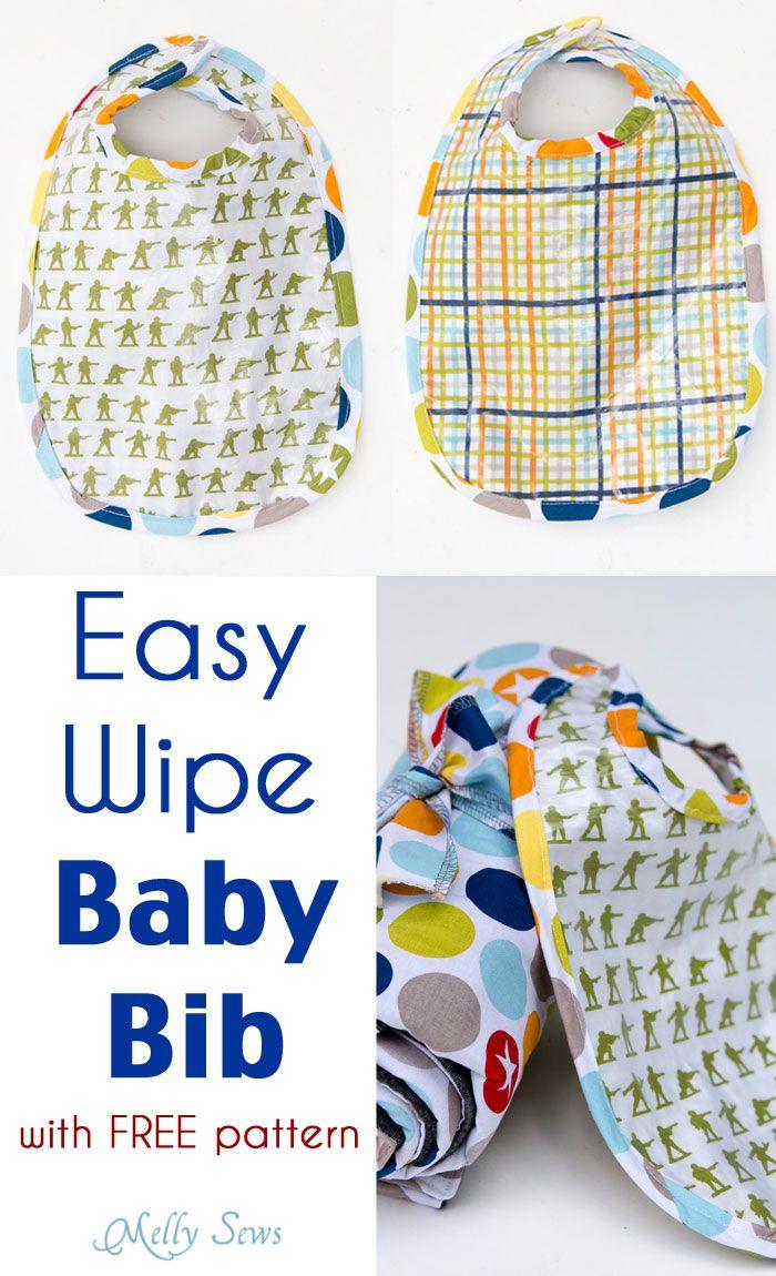 Easy Wipe Bib Tutorial - Sew a Bib with this FREE Pattern   Bebé ...