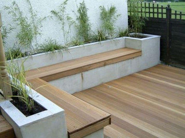 50 Amazing Diy Bench Seating Area Backyard Landscaping Ideas Diy Benchseat Landscaping Built In Garden Seating Backyard Seating Area Outdoor Gardens Design