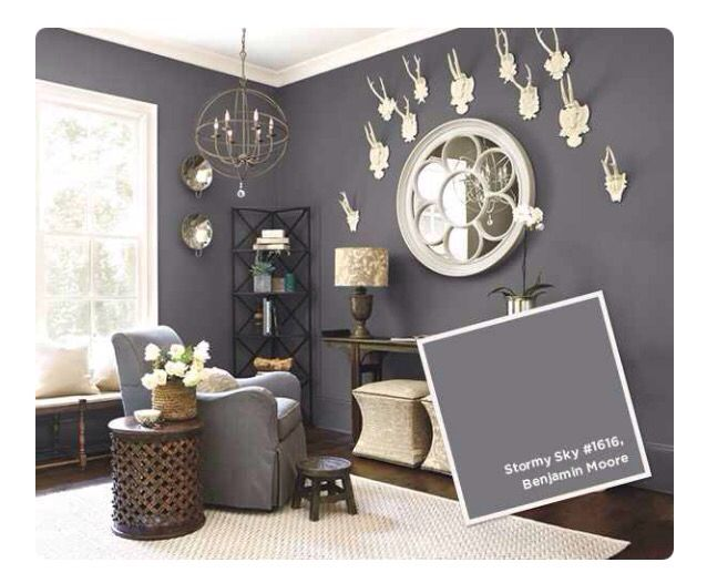 Dark Gray Walls Paint Colors For Living Room Room Paint Colors Living Room Colors