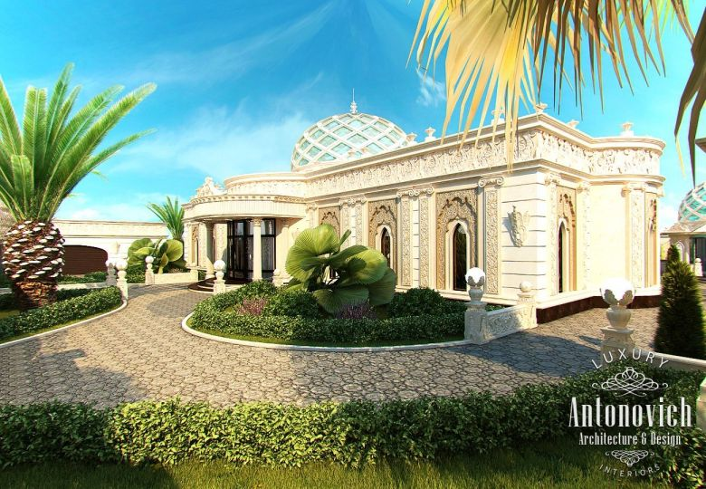 Exterior Design In Dubai Luxury Villa Exterior Abu Dhabi Photo 2