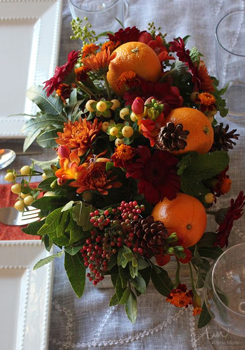 Thanksgiving flower arrangement diy