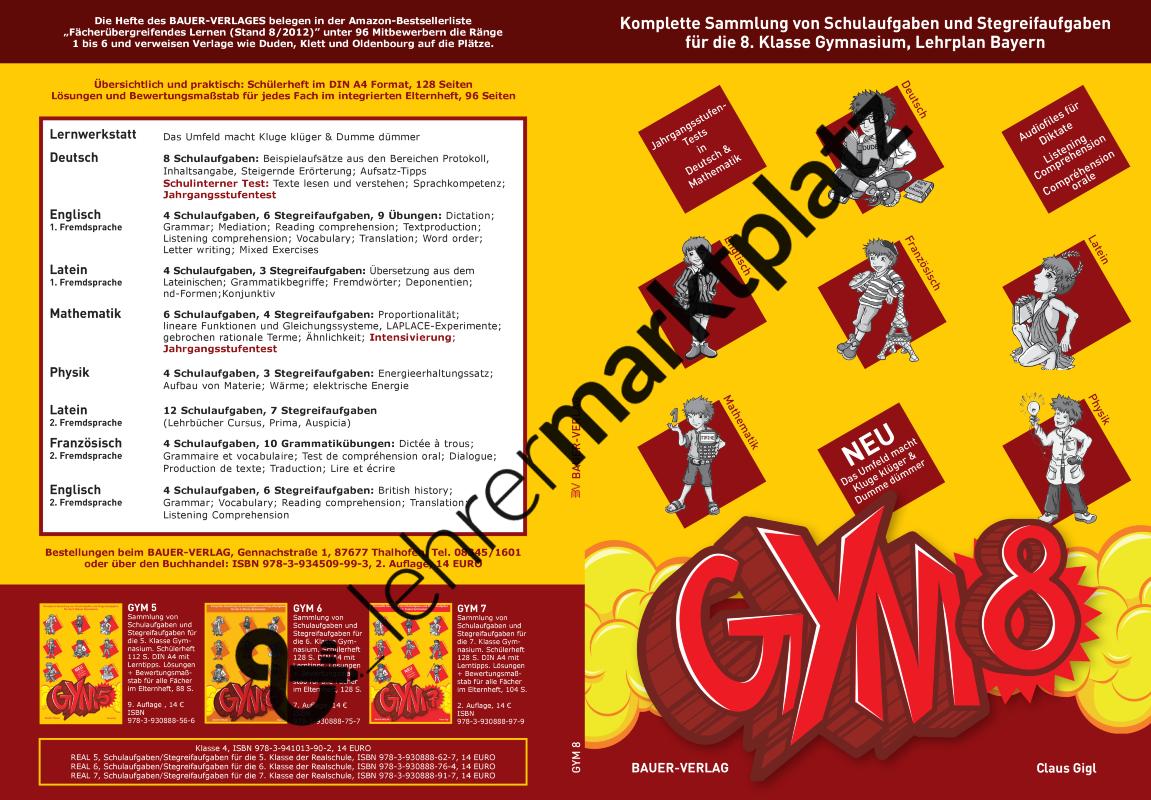 GYM 8 - Sammlung von Schulaufgaben und Stegreifaufgaben für die 8 ...