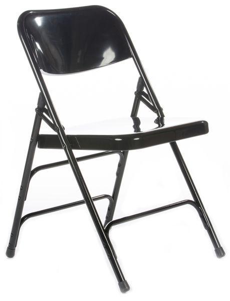 Rhino Metal Folding Chair Quad Hinged Triple Cross Braced
