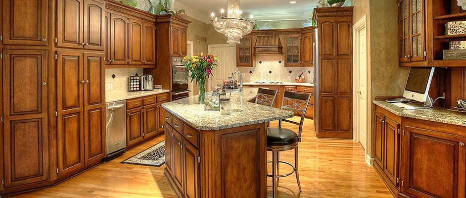 Beautiful faux finished kitchen cabinets. Update not ...
