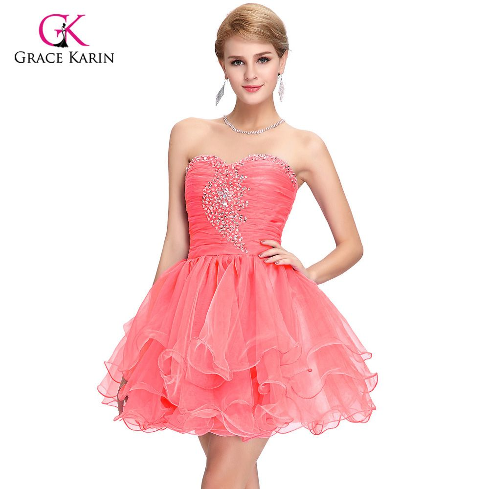 Free Shipping] Buy Best Cute Back to School Short Prom Dresses 2017 ...