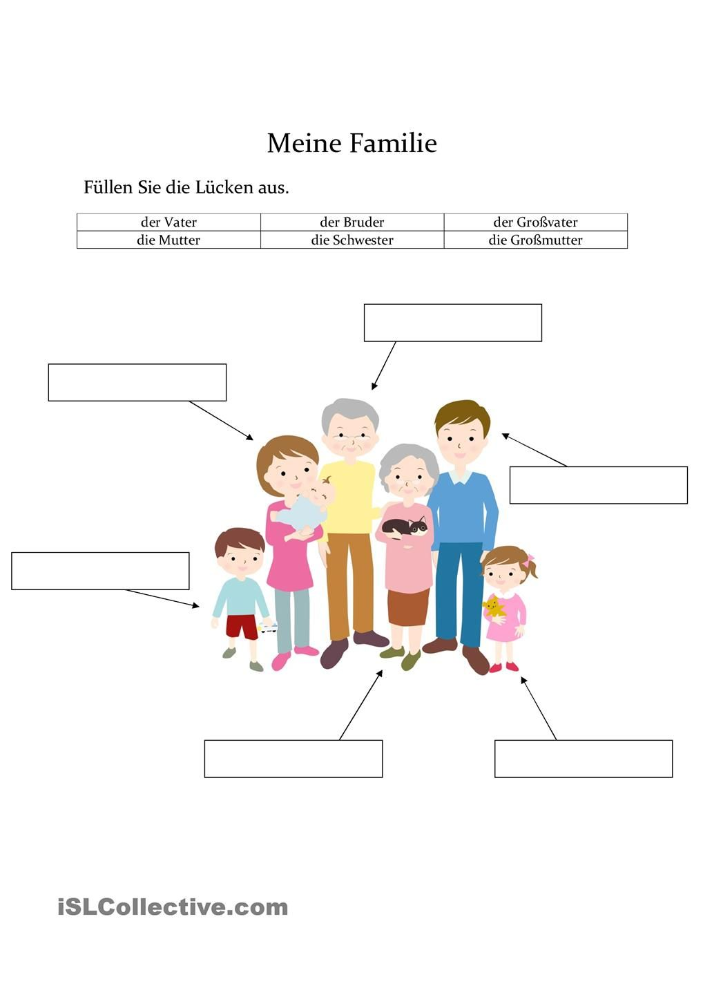 Meine Familie | DİLLER | Pinterest | German, German language and ...
