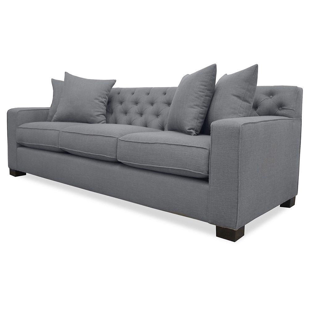 Genial Cassandra Tufted Premium Linen Down Wrapped Sofa