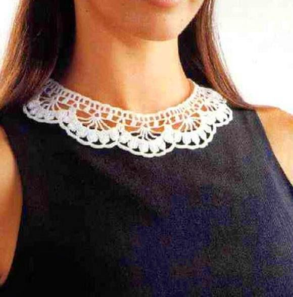 Stylish Easy Crochet: Crochet Collar Pattern - Stylish and Easy