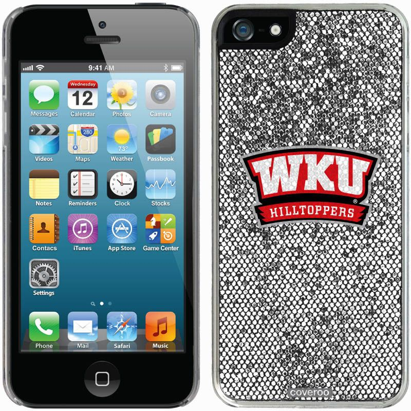 Western Kentucky Hilltoppers iPhone 5/5s Bling Thinshield Snap-On Case – Silver