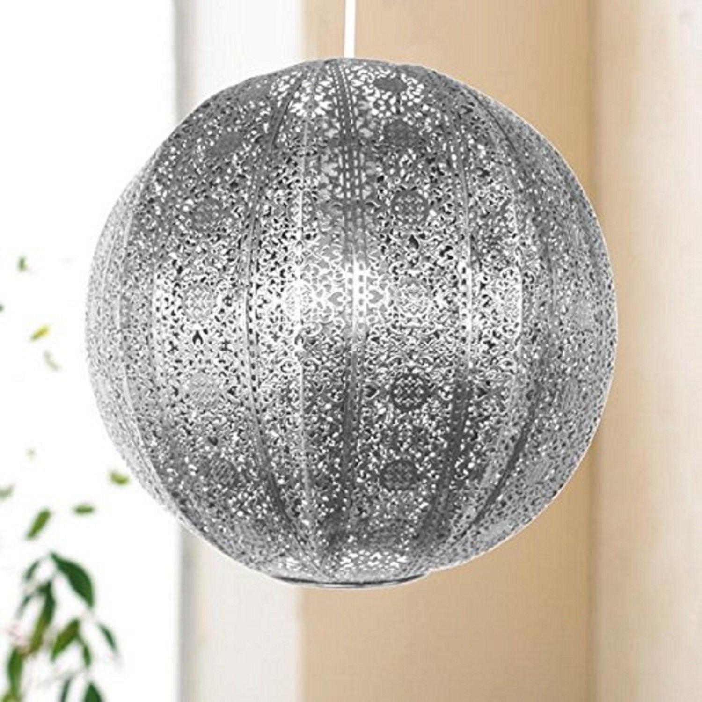 Silver Moroccan Light Shade