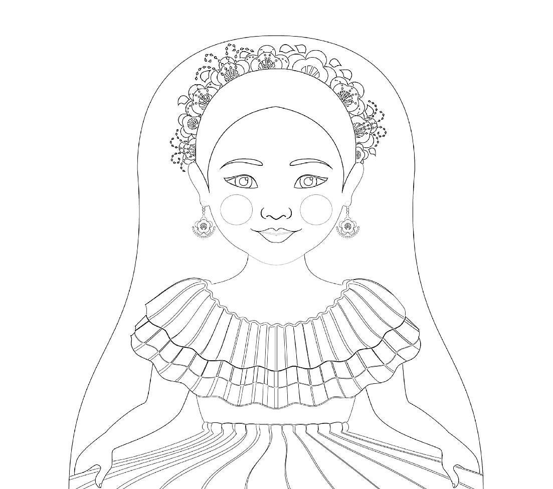 Colombian Matryoshka Coloring Sheet Printable File Etsy In 2021 Nesting Dolls Illustration Coloring Sheets Colombian Culture
